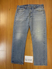 used Levis 501 destroyed feathered grunge USA jean tag 40x34 meas 36x31 16371F