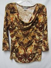 VINTAGE SUZIE top shirt blouse XL 14/16 Bust 42-44 silky smooth feel fabric
