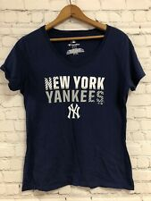 Fanatics NY Yankees MLB Blue V-neck Short Sleeve Tshirt Size Medium