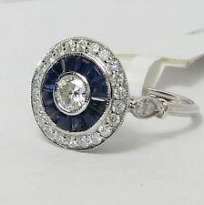 White Gold Sapphire Fine Diamond Rings