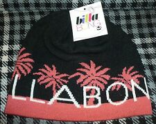 - Billabong Beanie Hat Black With Dusty Pink Palm Trees