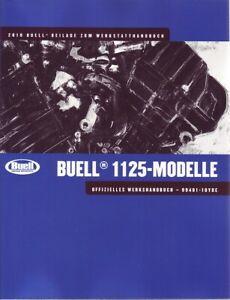 HARLEY Wartungsanleitung 2010 BUELL 1125CR 1125R Modelle DEUTSCH 99491-10YDE Neu