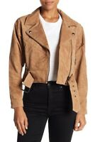 BLANK NYC Womens Suede Dolman Moto Jacket XS