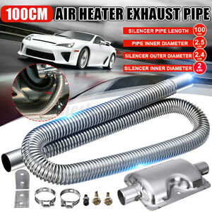 100cm Car Exhaust Pipe Silencer Clamp Kit For Car Parking Air Diesel Heater US