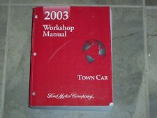2003 Lincoln Town Car Shop Service Repair Manual Executive Signature Cartier
