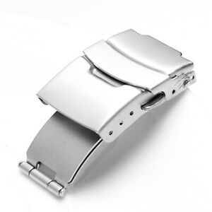 12~24mm Stainless Steel Butterfly Deployment Clasp Buckle Watch Strap Band