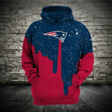 New England Patriots Hoodie Football Pullover Hooded Sweatshirt 3D Sports Jacket
