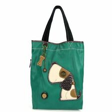 NEW CHALA TOFFY DOG TURQUOISE BLUE EVERYDAY TOTE PURSE HANDBAG FAUX LEATHER