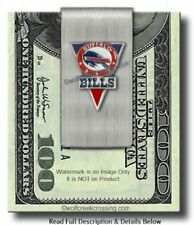 BUFFALO BILLS STAINLESS STEEL MONEY CLIP - FOOTBALL SPORTS GIFT - FREE SHIP #A*