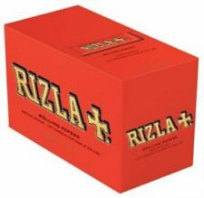 NEW RIZLA RED 100 BOOKLETS BOX REGULAR /STANDARD CIGARETTE ROLLING PAPERS