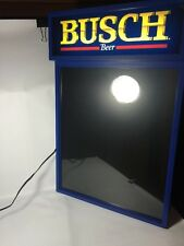 Busch Beer Illuminated Light Up Menu Board 29.5 x 19 New