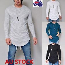 Men's Slim Fit Long Sleeve Shirt Solid T-shirt Tee Shirt Casual Tops