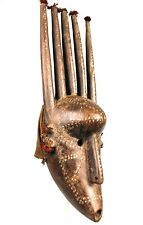 Art Africain Arts Premiers - Superbe Masque Bambara aux Longues Cornes - 56 Cms