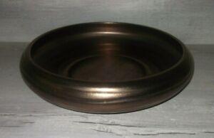next huge dark bronze ceramic bowl has a 42cm diameter stunning statement piece