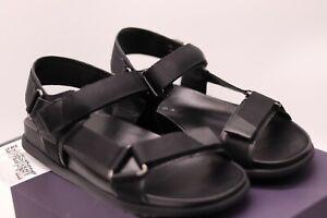 PRADA Milano Black Leather Sandals | Size UK6 | Summer Straps | 100% Authentic