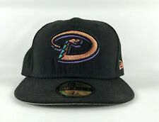 Arizona Diamondbacks Fitted Baseball Hat New Era 59Fifty Black Copper Logo 7 1/2