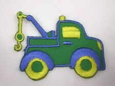 Green Truck Auto Wrecker Embroidered Iron On Patch