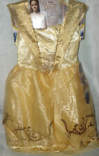 DISNEY BEAUTY AND THE BEAST BELLE'S BALL GOWN GIRLS SMALL 4-6X YELLOW GOLD NWT