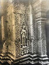 Temple Banteay Srei Angkor Vat Cambodge photographie originale C 1950 presse 7