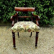 Regency high seat scroll arm chair /office c1830