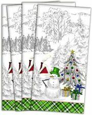 Michel Design Works Christmas Season's Greetings Cotton Napkins Set of 4