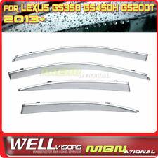 Wellvisors Rain Sun Wind Deflectors Lexus GS350 GS450h 13-Up Window Visor Chrome