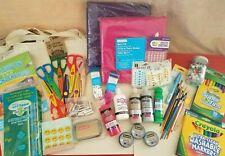 Mixed Lot of 50+ art & craft supplies totes, scissors, markers, puff paint, felt