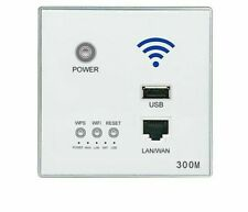 Wall Embedded Wireless WIFI AP Router With USB Port Socket Home Decor Outlet New