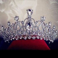Wedding Bridal Crystal Rhinestone Hair Headband Crown Comb Tiara Prom  Pageant H