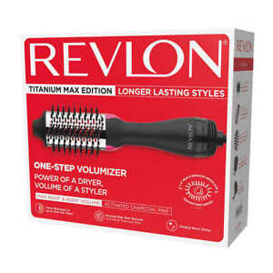 "Revlon One-Step Hair Dryer and Volumizer Titanium Max Edition- 2.4"" Barrel Size"