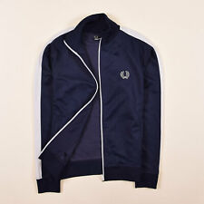 Fred Perry Kinder Sweater Sweat Tracktop Gr.164 Jacke Sweatshirt Navy Blau 79940