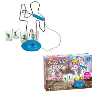 Buzz Wire Party Drinking Game & Shot Glasses Adult Novelty Secret Santa Gift