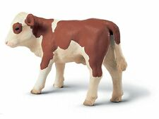 Schleich 13132 Brown and White Calf Model Toy Baby Cow Figurine Retired - NIP