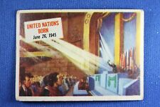 1954 Topps Scoop - #22 United Nations Born - G/VG Condition