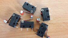 5 unids/lote  Micro Roller Lever Arm Normalmente Abierto Cerrar Limit Switch KW