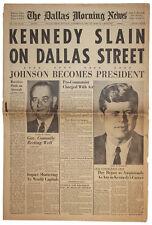 JFK Assassination Dallas Newspaper Kennedy Shot