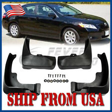 US Black Mud Flaps Splash Guards Fende Rear+Front Fit Toyota Camry 2007-2011 FM