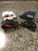 Lot of 4 Vintage Metal Hot Wheels Matchbox Toy Cars Ice Cream Van Rat Rod Kellog