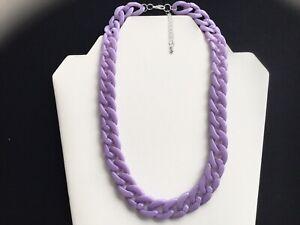 Damen leichter kurz flieder Acryl Kette Link Halskette