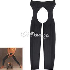 Men's Soft Mesh Sheer Long Pants Underwear Crotchless Gay Fetish Wear Panties