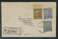 BARBADOS (PP2912B) 1940 SEA HORSE 2D+2 1/2D+3D REG TO USA