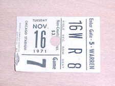 1971 Chicago Bulls v Seattle Supersonics Basketball Ticket 11/16 Bob Love 23 pts