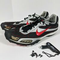 NIKE BOWERMAN XC Men's Cross Country Track & Field Spikes Shoes 15 New Black Red