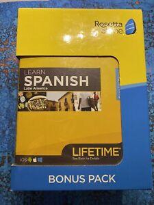 Rosetta Stone - LEARN LATIN AMERICAN - SPANISH - Bonus Pack