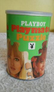 1967 Playboy Playmate Jigsaw Puzzle Malken Haugedel Complete Mini Centerfold