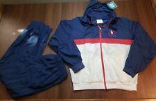 Vintage 80's USA Olympic Training Tracksuit Jacket Pants Set XL Windbreaker