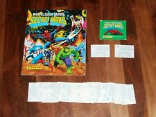 Marvel Super Heroes Secret Wars 1986 Panini Complete Sticker album with aTwist..
