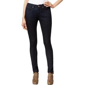 Eileen Fisher Womens Denim Mid-Rise Straight Leg Skinny Jeans BHFO 4504