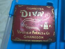 Ancien paquet boite de cigarettes tole publicitaire DIVA