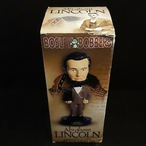 BOSLEY BOBBERS ABRAHAM LINCOLN RESIN BOBBLE HEAD - DENTED BOX BRAND NEW ITEM